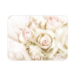 Pastel Roses Antique Vintage Double Sided Flano Blanket (mini)  by Celenk