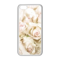 Pastel Roses Antique Vintage Apple Iphone 5c Seamless Case (white) by Celenk