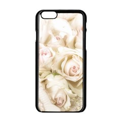 Pastel Roses Antique Vintage Apple Iphone 6/6s Black Enamel Case by Celenk