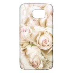 Pastel Roses Antique Vintage Galaxy S6 by Celenk
