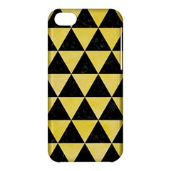 Triangle3 Black Marble & Yellow Watercolor Apple Iphone 5c Hardshell Case by trendistuff