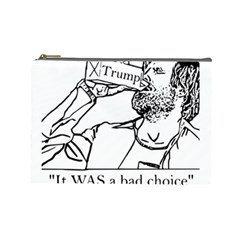 Trump Novelty Design Cosmetic Bag (large)  by PokeAtTrump
