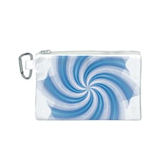 Prismatic Hole Blue Canvas Cosmetic Bag (s) by Mariart