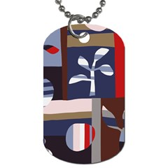 Surface Tree Polka Dots Dog Tag (two Sides) by Mariart