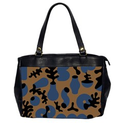 Superfiction Object Blue Black Brown Pattern Office Handbags (2 Sides)  by Mariart
