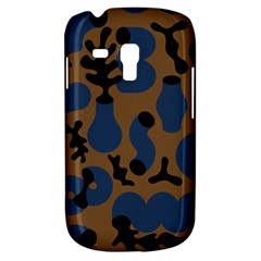 Superfiction Object Blue Black Brown Pattern Galaxy S3 Mini by Mariart