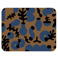 Superfiction Object Blue Black Brown Pattern Double Sided Flano Blanket (medium)  by Mariart