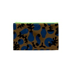 Superfiction Object Blue Black Brown Pattern Cosmetic Bag (xs) by Mariart
