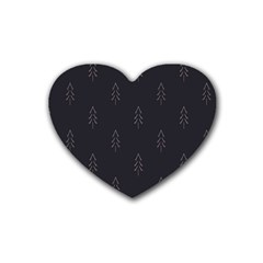Tree Christmas Rubber Coaster (heart)  by Mariart