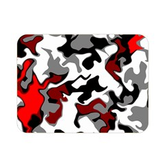 Vector Red Black White Camo Advance Double Sided Flano Blanket (mini)  by Mariart