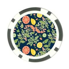 Summer Fruite Orange Lemmon Tomato Poker Chip Card Guard (10 Pack) by Mariart
