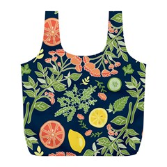 Summer Fruite Orange Lemmon Tomato Full Print Recycle Bags (l)  by Mariart