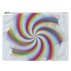 Prismatic Hole Rainbow Cosmetic Bag (xxl)  by Mariart
