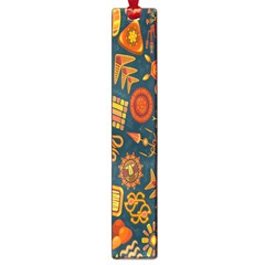 Tribal Ethnic Blue Gold Culture Large Book Marks by Mariart