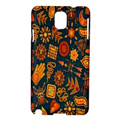 Tribal Ethnic Blue Gold Culture Samsung Galaxy Note 3 N9005 Hardshell Case by Mariart