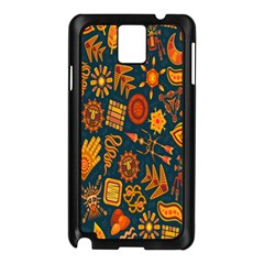 Tribal Ethnic Blue Gold Culture Samsung Galaxy Note 3 N9005 Case (black) by Mariart
