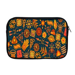 Tribal Ethnic Blue Gold Culture Apple Macbook Pro 17  Zipper Case by Mariart