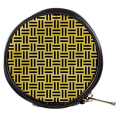 Woven1 Black Marble & Yellow Watercolor Mini Makeup Bags by trendistuff