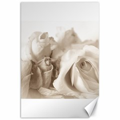 Vintage Rose Shabby Chic Background Canvas 20  X 30   by Celenk
