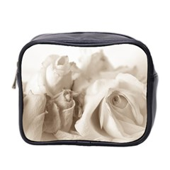 Vintage Rose Shabby Chic Background Mini Toiletries Bag 2 Side by Celenk