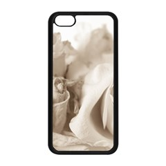 Vintage Rose Shabby Chic Background Apple Iphone 5c Seamless Case (black) by Celenk