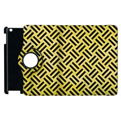 Woven2 Black Marble & Yellow Watercolor Apple Ipad 3/4 Flip 360 Case by trendistuff