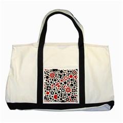 Square Objects Future Modern Two Tone Tote Bag by Celenk