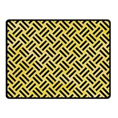 Woven2 Black Marble & Yellow Watercolor Double Sided Fleece Blanket (small)  by trendistuff