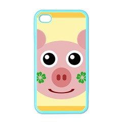 Luck Lucky Pig Pig Lucky Charm Apple Iphone 4 Case (color)