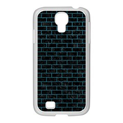 Brick1 Black Marble & Teal Leather (r) Samsung Galaxy S4 I9500/ I9505 Case (white) by trendistuff