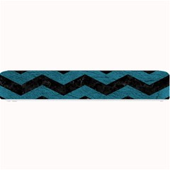 Chevron3 Black Marble & Teal Leather Small Bar Mats by trendistuff