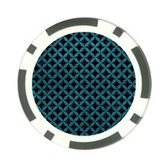 Circles3 Black Marble & Teal Leather (r) Poker Chip Card Guard (10 Pack) by trendistuff