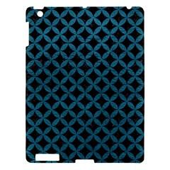 Circles3 Black Marble & Teal Leather (r) Apple Ipad 3/4 Hardshell Case by trendistuff