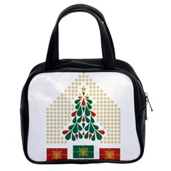 Christmas Tree Present House Star Classic Handbags (2 Sides) by Celenk