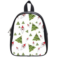 Christmas Santa Claus Decoration School Bag (small) by Celenk
