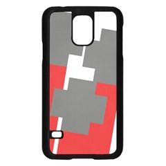 Cross Abstract Shape Line Samsung Galaxy S5 Case (black)