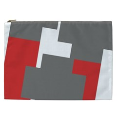Cross Abstract Shape Line Cosmetic Bag (xxl)