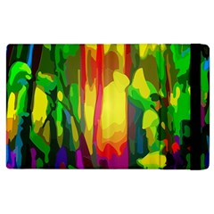 Abstract Vibrant Colour Botany Apple Ipad 2 Flip Case by Celenk