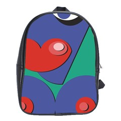 Clipart Portrait Illustration School Bag (xl) by Celenk