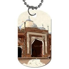 Agra Taj Mahal India Palace Dog Tag (one Side)