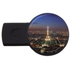 Paris At Night Usb Flash Drive Round (2 Gb) by Celenk