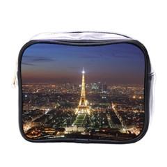 Paris At Night Mini Toiletries Bags by Celenk