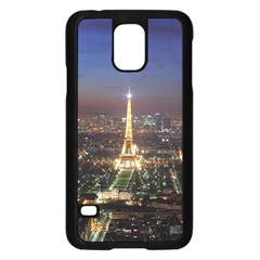 Paris At Night Samsung Galaxy S5 Case (black) by Celenk
