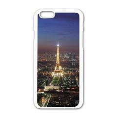 Paris At Night Apple Iphone 6/6s White Enamel Case by Celenk