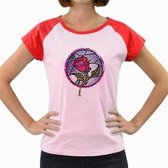 Beauty And The Beast Rose Women s Cap Sleeve T Shirt by Celenk