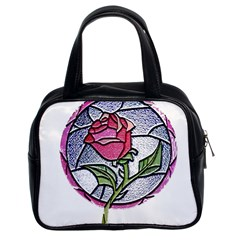 Beauty And The Beast Rose Classic Handbags (2 Sides) by Celenk