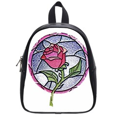 Beauty And The Beast Rose School Bag (small) by Celenk