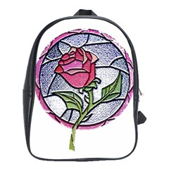 Beauty And The Beast Rose School Bag (xl) by Celenk