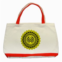 Bassnectar Sunflower Classic Tote Bag (red) by Celenk