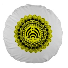 Bassnectar Sunflower Large 18  Premium Flano Round Cushions by Celenk